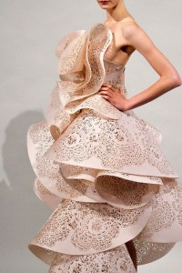 Laser Cut Paper Dress by Marchesa